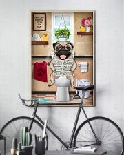 PUG PUPPY SITTING ON A TOILET 11x17 Poster lifestyle-poster-7