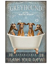 GREYHOUND PUPPIES WASH YOUR PAWS 11x17 Poster front