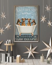 GREYHOUND PUPPIES WASH YOUR PAWS 11x17 Poster lifestyle-holiday-poster-1