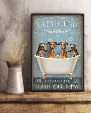 GREYHOUND PUPPIES WASH YOUR PAWS 11x17 Poster lifestyle-poster-3