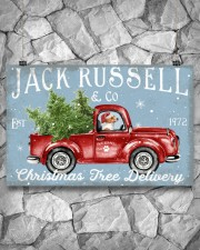 JACK RUSSELL DOG RED TRUCK CHRISTMAS 17x11 Poster aos-poster-landscape-17x11-lifestyle-13