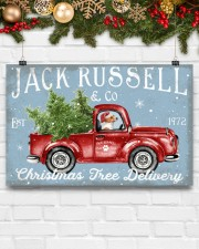 JACK RUSSELL DOG RED TRUCK CHRISTMAS 17x11 Poster aos-poster-landscape-17x11-lifestyle-28