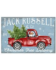 JACK RUSSELL DOG RED TRUCK CHRISTMAS 17x11 Poster front