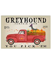 GREYHOUND DOG RED TRUCK PUMPKIN FARM 17x11 Poster front