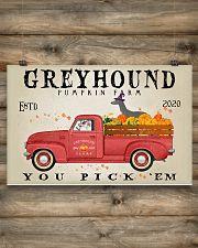 GREYHOUND DOG RED TRUCK PUMPKIN FARM 17x11 Poster poster-landscape-17x11-lifestyle-14
