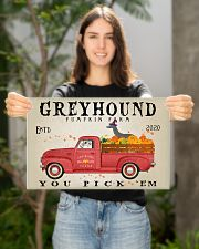 GREYHOUND DOG RED TRUCK PUMPKIN FARM 17x11 Poster poster-landscape-17x11-lifestyle-19