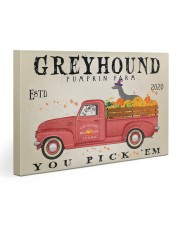 GREYHOUND DOG RED TRUCK PUMPKIN FARM Gallery Wrapped Canvas Prints tile
