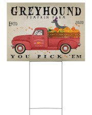 GREYHOUND DOG RED TRUCK PUMPKIN FARM Yard Signs tile