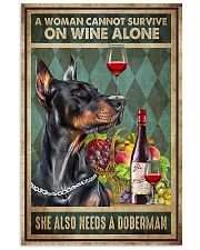 WOMAN ALSO NEEDS A DOBERMAN DOG 11x17 Poster front