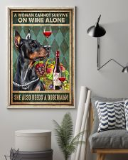 WOMAN ALSO NEEDS A DOBERMAN DOG 11x17 Poster lifestyle-poster-1