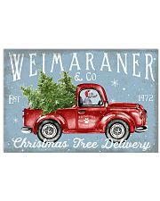 WEIMARANER DOG RED TRUCK CHRISTMAS 17x11 Poster front