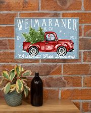 WEIMARANER DOG RED TRUCK CHRISTMAS 17x11 Poster poster-landscape-17x11-lifestyle-23
