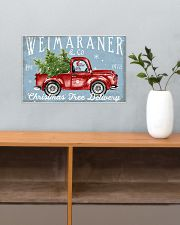 WEIMARANER DOG RED TRUCK CHRISTMAS 17x11 Poster poster-landscape-17x11-lifestyle-24