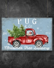 PUG DOG RED TRUCK CHRISTMAS 17x11 Poster aos-poster-landscape-17x11-lifestyle-12