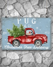 PUG DOG RED TRUCK CHRISTMAS 17x11 Poster aos-poster-landscape-17x11-lifestyle-13