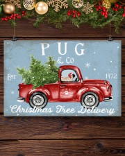 PUG DOG RED TRUCK CHRISTMAS 17x11 Poster aos-poster-landscape-17x11-lifestyle-27