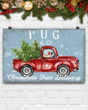 PUG DOG RED TRUCK CHRISTMAS 17x11 Poster aos-poster-landscape-17x11-lifestyle-28