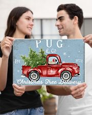 PUG DOG RED TRUCK CHRISTMAS 17x11 Poster poster-landscape-17x11-lifestyle-20