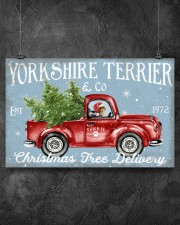 YORKSHIRE TERRIER DOG RED TRUCK CHRISTMAS 17x11 Poster aos-poster-landscape-17x11-lifestyle-12