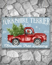 YORKSHIRE TERRIER DOG RED TRUCK CHRISTMAS 17x11 Poster aos-poster-landscape-17x11-lifestyle-13