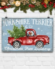 YORKSHIRE TERRIER DOG RED TRUCK CHRISTMAS 17x11 Poster aos-poster-landscape-17x11-lifestyle-28