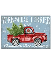 YORKSHIRE TERRIER DOG RED TRUCK CHRISTMAS 17x11 Poster front