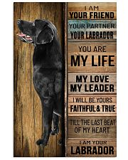 BLACK LABRADOR DOG LOVER 11x17 Poster front