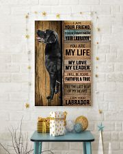 BLACK LABRADOR DOG LOVER 11x17 Poster lifestyle-holiday-poster-3