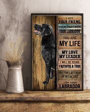 BLACK LABRADOR DOG LOVER 11x17 Poster lifestyle-poster-3