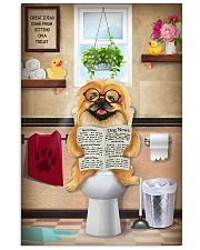 PEKINGESE PUPPY SITTING ON A TOILET 11x17 Poster front