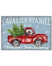 CAVALIER SPANIEL DOG RED TRUCK CHRISTMAS 17x11 Poster front