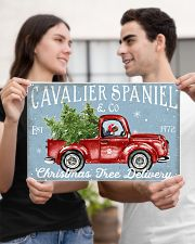 CAVALIER SPANIEL DOG RED TRUCK CHRISTMAS 17x11 Poster poster-landscape-17x11-lifestyle-20