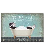 SCHNAUZER PUPPY RELAX ON BATH SOAP 17x11 Poster front