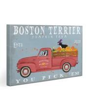 BOSTON TERRIER RED TRUCK PUMPKIN FARM Gallery Wrapped Canvas Prints tile