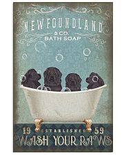NEWFOUNDLAND PUPPIES ON BATH SOAP 11x17 Poster front