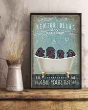 NEWFOUNDLAND PUPPIES ON BATH SOAP 11x17 Poster lifestyle-poster-3