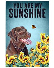 CHOCOLATE LABRADOR DOG YOU ARE MY SUNSHINE 11x17 Poster front