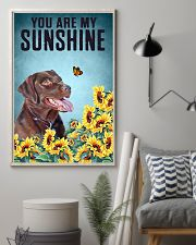 CHOCOLATE LABRADOR DOG YOU ARE MY SUNSHINE 11x17 Poster lifestyle-poster-1