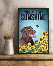 CHOCOLATE LABRADOR DOG YOU ARE MY SUNSHINE 11x17 Poster lifestyle-poster-3