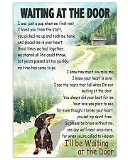 DACHSHUND DOG WAITING AT THE DOOR 11x17 Poster front
