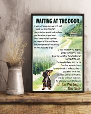 DACHSHUND DOG WAITING AT THE DOOR 11x17 Poster lifestyle-poster-3