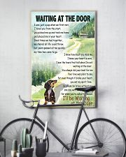 DACHSHUND DOG WAITING AT THE DOOR 11x17 Poster lifestyle-poster-7