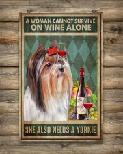 WOMAN ALSO NEEDS A YORKIE DOG 11x17 Poster aos-poster-portrait-11x17-lifestyle-14