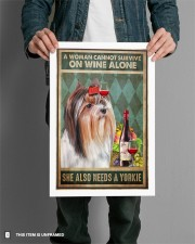 WOMAN ALSO NEEDS A YORKIE DOG 11x17 Poster aos-poster-portrait-11x17-lifestyle-28