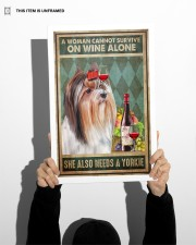 WOMAN ALSO NEEDS A YORKIE DOG 11x17 Poster aos-poster-portrait-11x17-lifestyle-36