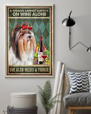 WOMAN ALSO NEEDS A YORKIE DOG 11x17 Poster lifestyle-poster-1