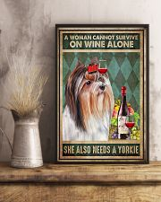 WOMAN ALSO NEEDS A YORKIE DOG 11x17 Poster lifestyle-poster-3