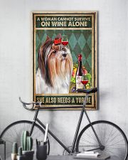 WOMAN ALSO NEEDS A YORKIE DOG 11x17 Poster lifestyle-poster-7