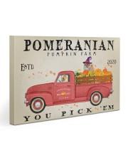 POMERANIAN DOG RED TRUCK PUMPKIN FARM Gallery Wrapped Canvas Prints tile