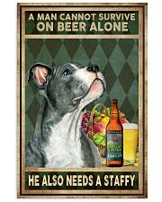 MAN ALSO NEEDS A STAFFORDSHIRE BULL TERRIER 11x17 Poster front